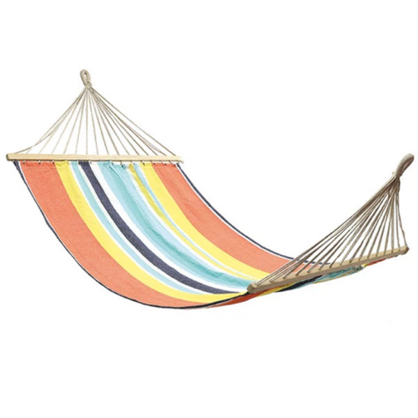 Cotton Hammock with Wooden Bar