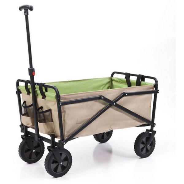 Manual 150 Pound Capacity Folding Steel Wagon Outdoor Garden Cart